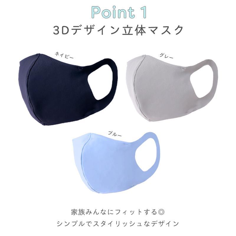 の 素材 マスク 安心安全の日本製「洗える水着素材マスク3枚セット」