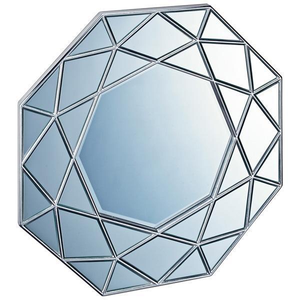 送料無料ユーパワー ダイヤモンド ダイヤモンド アート ミラー アンティークシルバー DM-25002