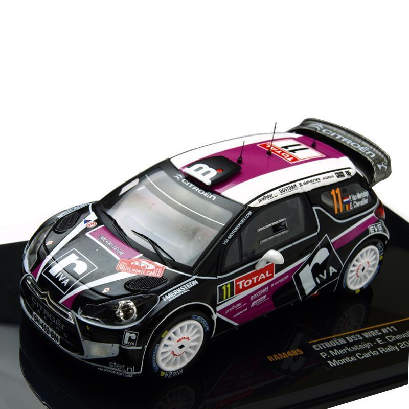 送料無料ixo/イクソ シトロエン DS3 WRC 2012年 ラリー モンテカルロ ♯11 ドライバー:P.Merksteijn/E.Chevalier 1/43スケール RAM485