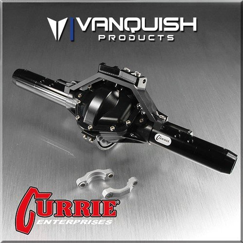 Vanquish Currie RockJock SCX10 リア アクスル Assembly 黒 Anodized - VPS06602
