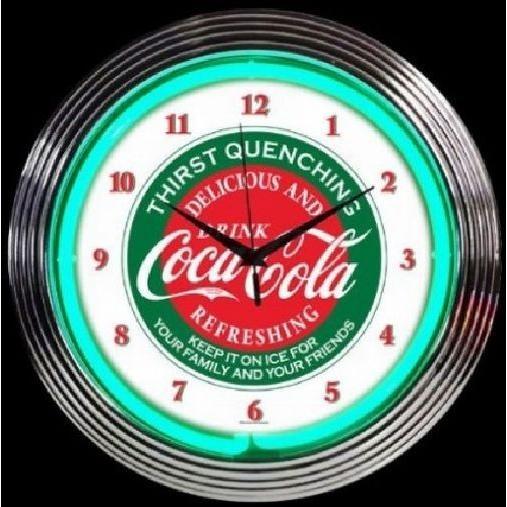 コカ セール ☆最安値に挑戦 登場から人気沸騰 コーラ エバーグリーン レトロ クロック 壁掛時計 ネオン
