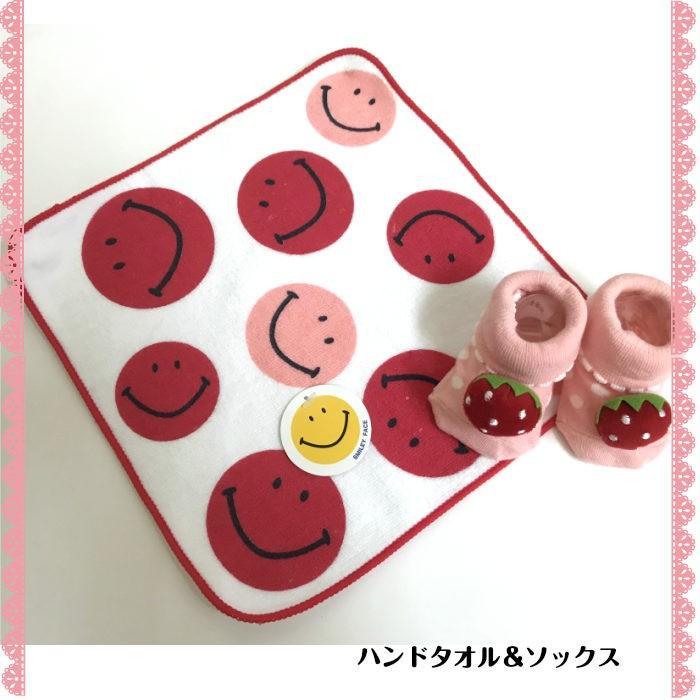 おむつケーキ 女の子用 出産祝い スマイル苺 ピンクオムツケーキ プチ monkeypanda333 03