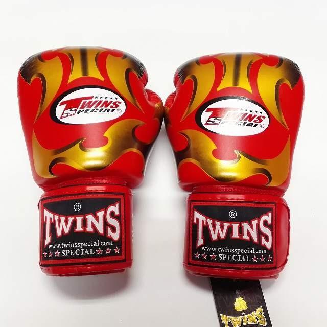 新品 正規 大放出セール TWINS 本格ボクシンググローブ METAL 本革製 ボクシング 年間定番 グローブ ムエタイ 赤金