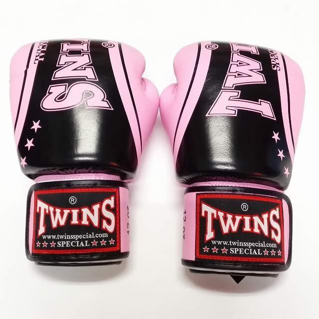新品 正規 TWINS 本格ボクシンググローブ TWINS桃黒SP /ボクシング/ムエタイ/本革製/グローブ