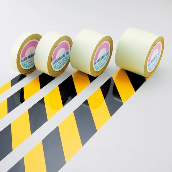 ガードテープ GT-751TR カラー:黄/黒 75mm幅〔代引不可〕