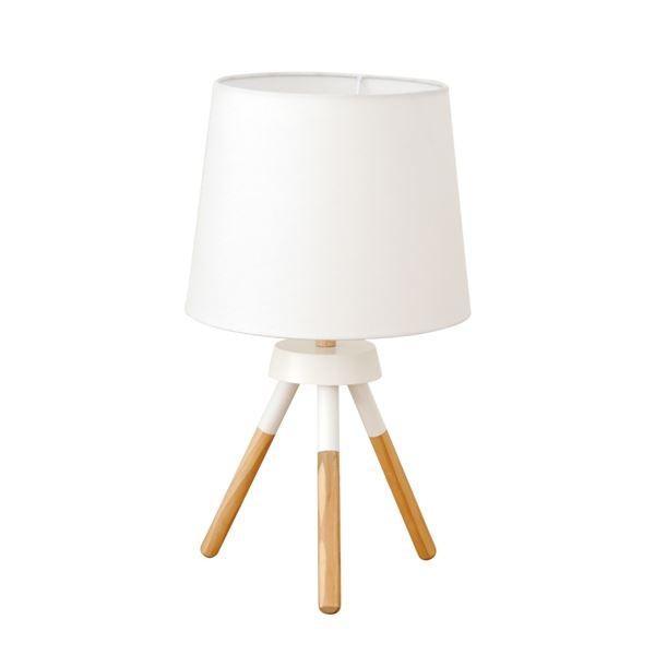 テーブルライト(卓上照明器具) テーブルライト(卓上照明器具) 北欧 ファブリック×天然木 ELUX(エルックス) POOKY ホワイト(白) 〔電球別売〕〔代引不可〕