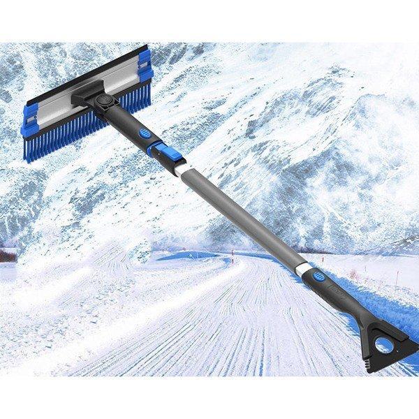 送料無料 除雪 スノーブラシ 霜取り ワイパー フロンドガラス 氷除去 除雪作業 伸縮式 スクレーパー 回転 車用雪おろし(18110903) mono-m