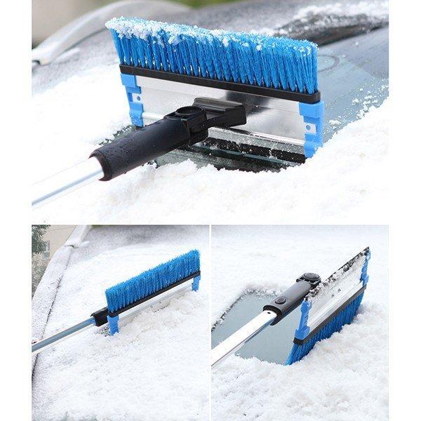 送料無料 除雪 スノーブラシ 霜取り ワイパー フロンドガラス 氷除去 除雪作業 伸縮式 スクレーパー 回転 車用雪おろし(18110903) mono-m 02