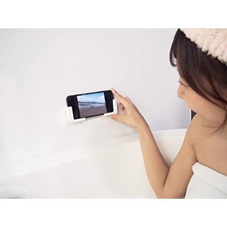 東和産業 浴室用ラック ホワイト 約5×2.3×5cm 磁着SQ バススマートフォンホルダー 39200|mono-store|02