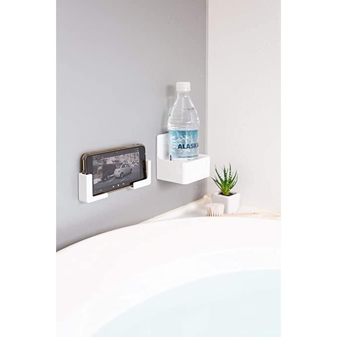 東和産業 浴室用ラック ホワイト 約5×2.3×5cm 磁着SQ バススマートフォンホルダー 39200|mono-store|04