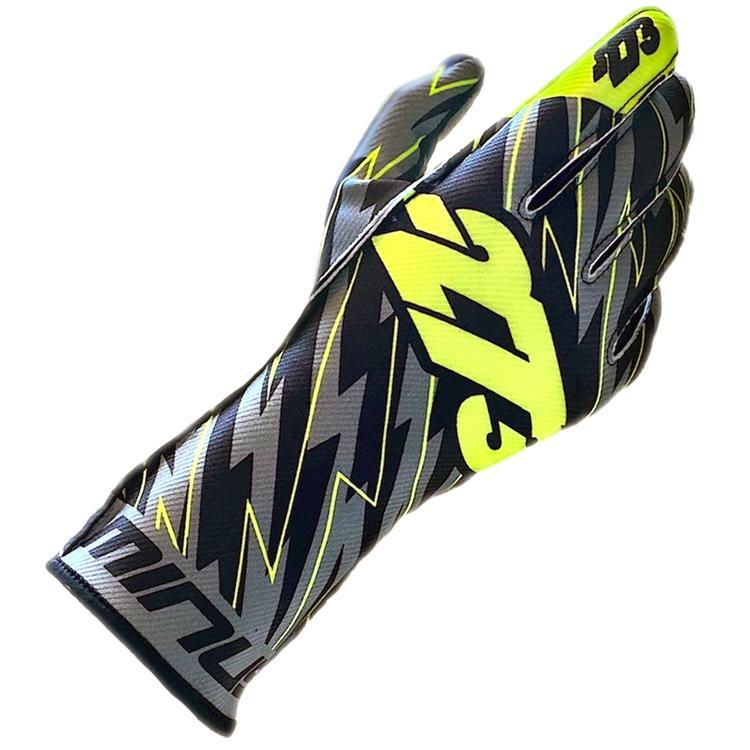 激安格安割引情報満載 -273 BLITZ Black×Gray×Yellow レーシンググローブ 走行会用グローブ レーシングカート 最新アイテム ブリッツ ブラック×グレイ×イエロー