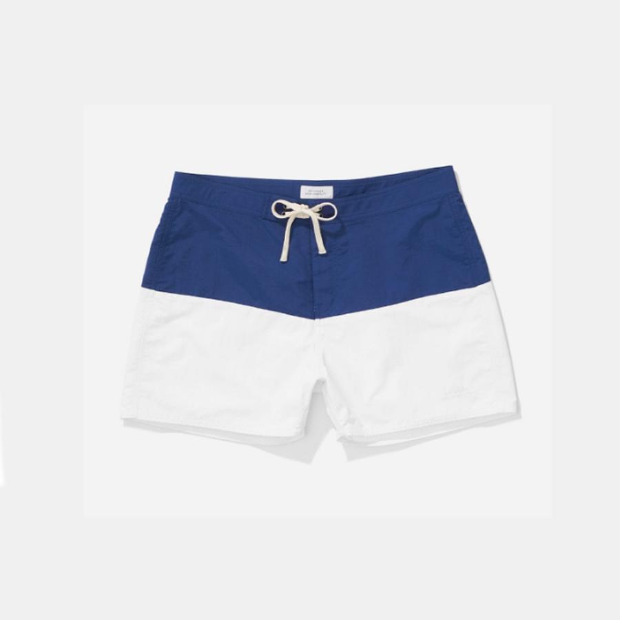 SATURDAYS SURF(サタデーズサーフ) ENNIS BOARDSHORTS(ボードショーツ)[青/白い(ブルー/ホワイト)][水色/白色][水着/海水パンツ/短パン][メンズ/男性用]