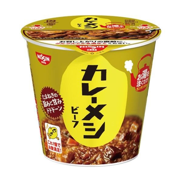 (まとめ)日清食品 日清カレーメシ ビーフ107g 1ケース(6食)〔×5セット〕
