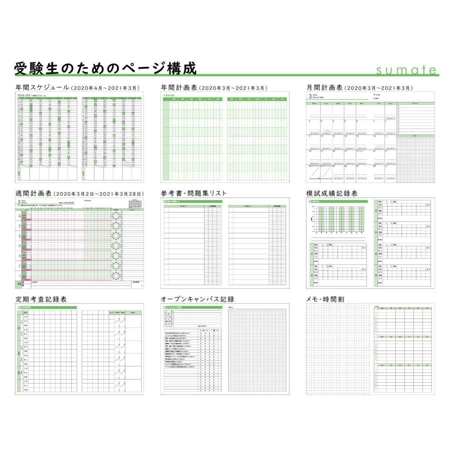 【モノラボ公式】スマテ-sumate- 2020年度版受験手帳(2021年受験用) 190mm×135mm 2020年4月始まり ST21(MONO-LAB-JAPAN)|monolabjapan|07