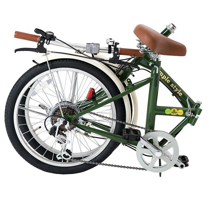 シンプルスタイル 20型折りたたみ自転車 H206 GL-H206 折畳 20インチ 6段変速 街乗り サイクリング おしゃれ 小型 コンパクト 車載 イベント ビンゴ景品|monoplan|02