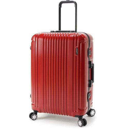 【全商品ポイント10倍】 BERMAS PRESTIGE III バーマス プレステージ3 スーツケース ハードキャリー フレームタイプ 4輪 62cm 66L レッド 60281-RD