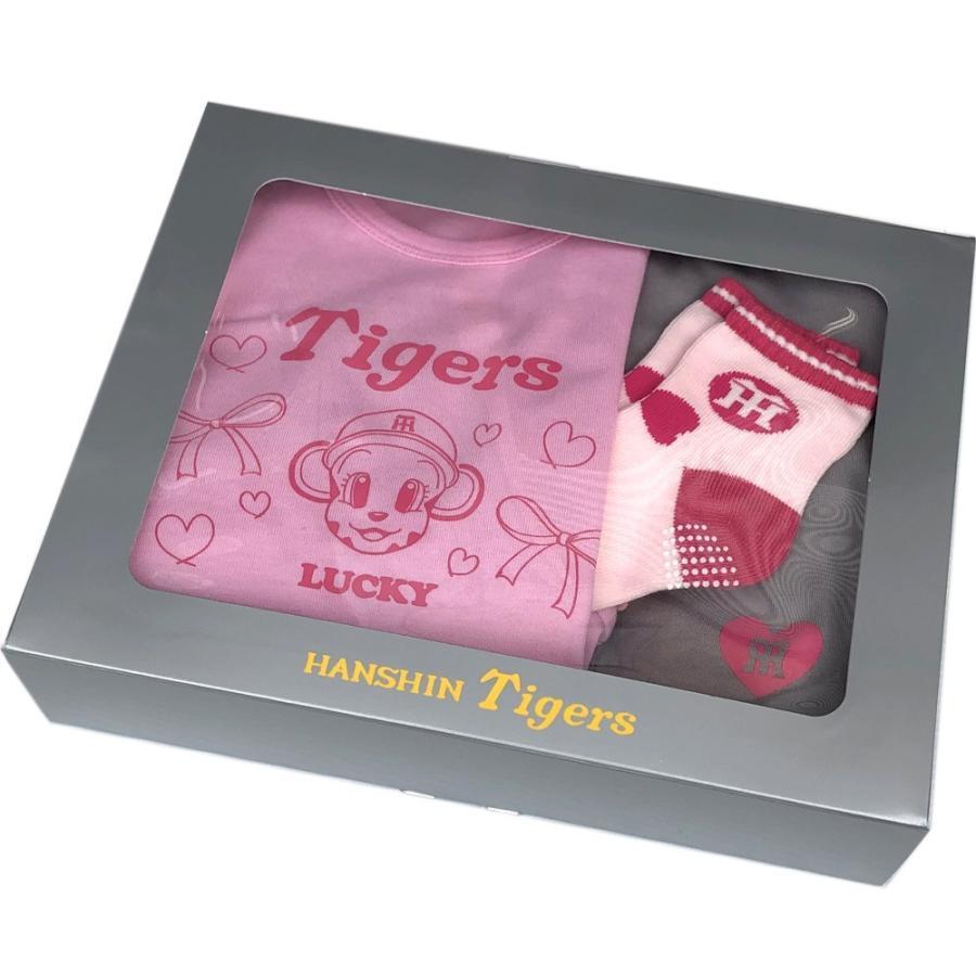 阪神タイガースグッズ 評価 受賞店 ラッキー 半袖Tシャツ パンツ ソックスのベビーギフトセット 贈り物に最適 80cm 子供服 キッズ
