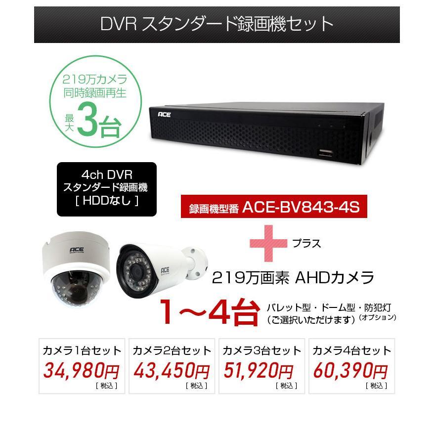 防犯カメラ 屋内 屋外 録画機+カメラ1〜4台セット 屋内ドーム リレーアタック対策 超高画質 AHD219万画素 モーション検知 防水 暗視 高解像度|monosupply|04