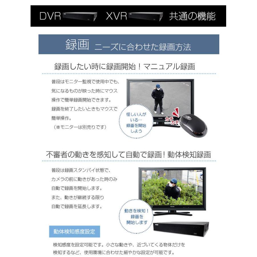 防犯カメラ 屋内 屋外 録画機+カメラ1〜4台セット 屋内ドーム リレーアタック対策 超高画質 AHD219万画素 モーション検知 防水 暗視 高解像度|monosupply|09