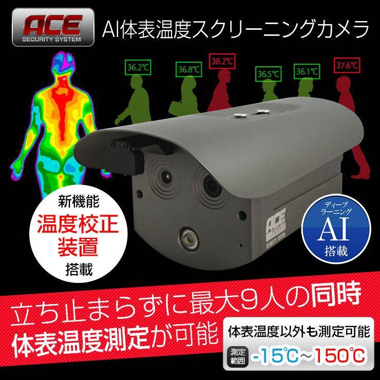 サーマルカメラ 顔認識 非接触 熱 検知 体表温度測定 AI搭載 温度スクリーニングカメラ 感染予防 対策 カメラ 警報 サーモグラフィー monosupply