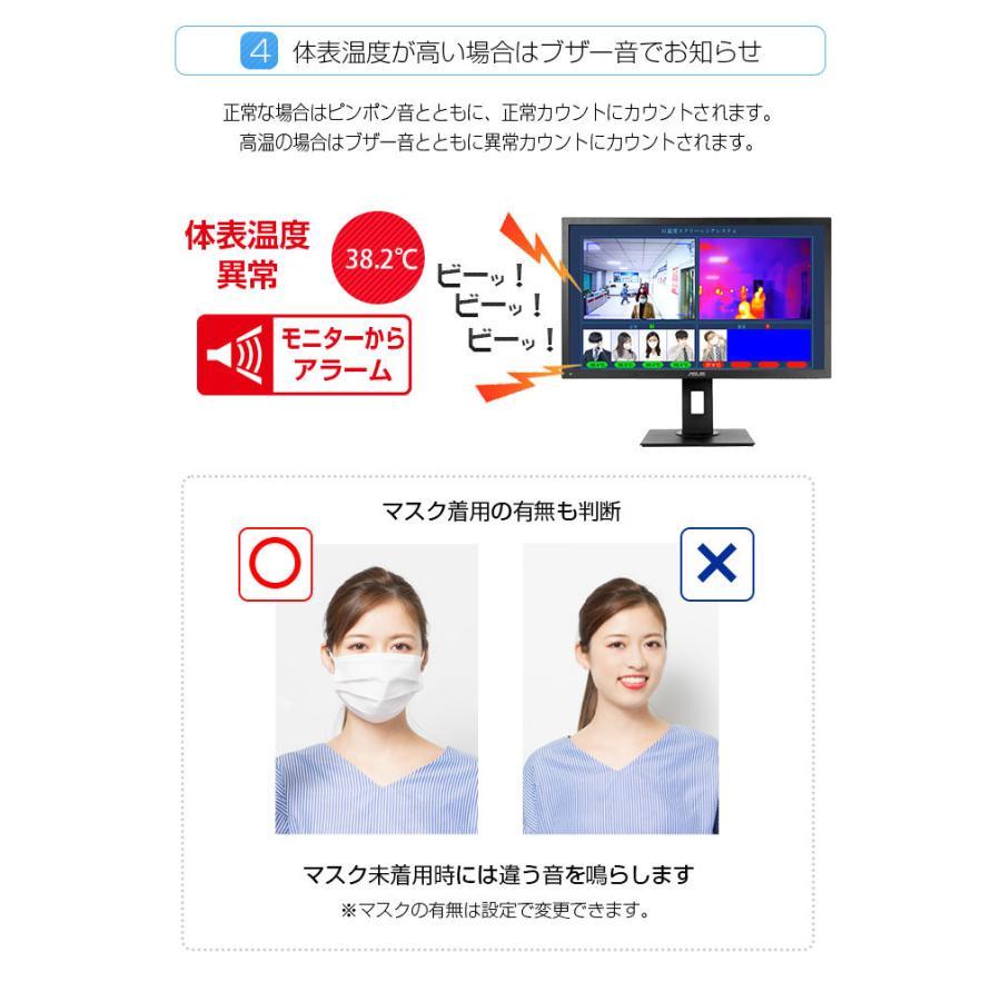 サーマルカメラ 顔認識 非接触 熱 検知 体表温度測定 AI搭載 温度スクリーニングカメラ 感染予防 対策 カメラ 警報 サーモグラフィー monosupply 11