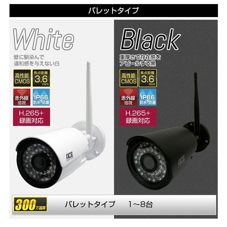 防犯カメラ ワイヤレス 屋外 屋内 家庭用 業務用 無線 ワイヤレス 高画質 300万画素 NVR+カメラ1〜4台セット モニター付あり H.265+ WiFi|monosupply|17