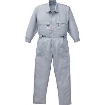 綿・ポリ混紡空調つなぎ服TM(ウェアのみ) 空調服 1-9820C06S4 LLシルバー