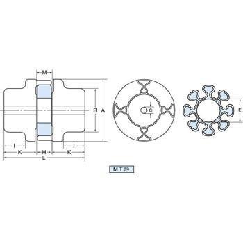 ハイパーフレックスカップリング MT形 三ツ星ベルト MTG-170