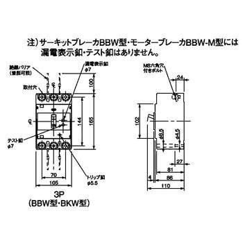 漏電ブレーカ BKW型 パナソニック(Panasonic) BKW31753K
