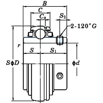 UC-L3 ユニット用玉軸受(円筒穴・三重シール) FYH (日本ピローブロック) UC322L3