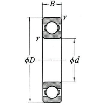 単列深溝玉軸受 6000番台 開放形 NSK(日本精工) 6038