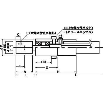 フレックスシャフト(チューブ付・高中速用) DB形 昌和発條製作所(サンエス) DB-06MF-1.5R