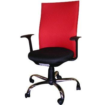 オフィスチェアー 赤 TRUSCO TOFC330A TOFC330A R 276-9093