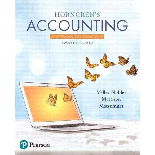Horngren's Accounting  The Financial Chapters 並行輸入品
