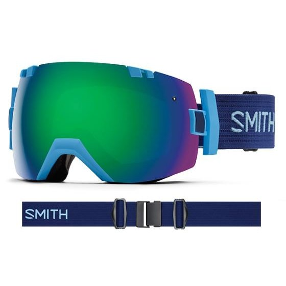 SMITH SNOW GOGGLE/スミス ゴーグル 16-17【I/OX アイオーエックス】Light 青 緑 Sol-X【スペアレンズ付...