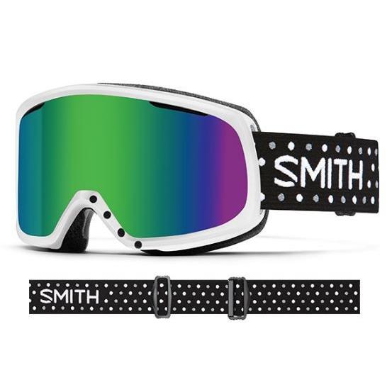 SMITH(スミス)(2017)【品名】RIOT(ライオット) レディーススキー・スノーボードゴーグル正規品 アジアンフィット 白い_DOTS