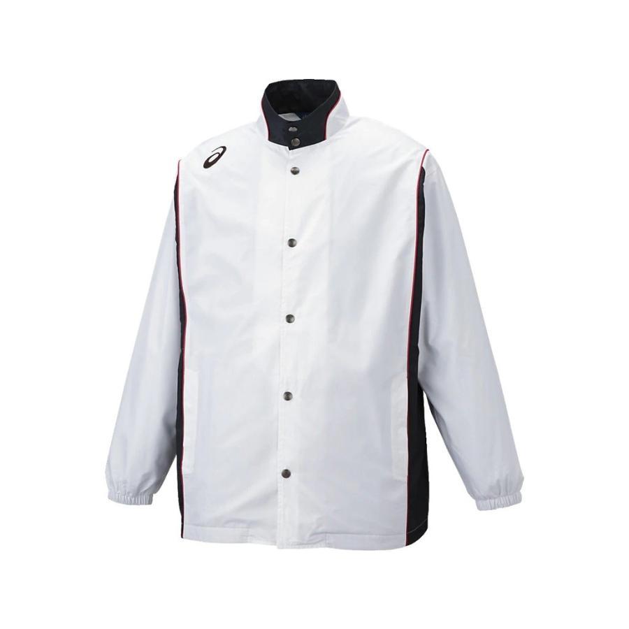 (アシックス) asics バスケットボール ウオームアップジャケット XBT161 01 ホワイト S
