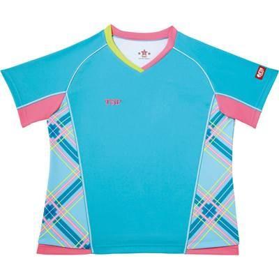 TSP レディース 卓球 ゲーム ビッグチェックシャツ ブルー 032405 0120 Sサイズ
