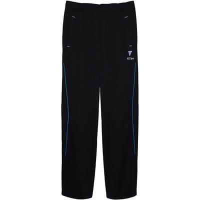 VICTAS(ヴィクタス) 卓球 男女兼用 トレーニングパンツ V-NJP042 033149 ブラック×ブルー(0022) 2XS