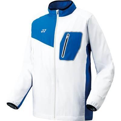 (ヨネックス)YONEX テニス 裏地付ウィンドウォーマーシャツ(フィットスタイル) 70051 [ユニセックス] 207 ホワイト/ブルー O