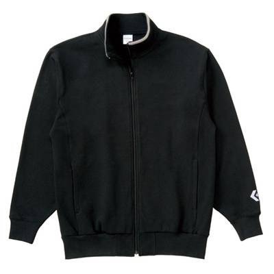 (コンバース)CONVERSE スウェットジャケット CB141203 1900 ブラック 2XO