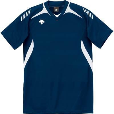 DESCENTE(デサント) 男女兼用 ジュニア対応 バレーボール 半袖ゲームシャツ DSS-4922 ネイビー×ホワイト S