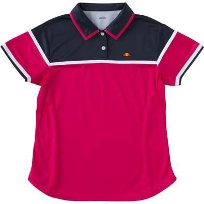 [エレッセ] テニスウェア 半袖チームポロシャツ [ガールズ] ETS0810L ネイビー×マゼンダ (NM) 日本 130 (日本サイズ130 相当)