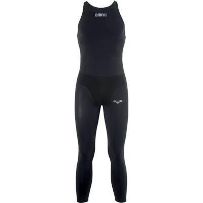 arena(アリーナ) 競泳用 水着 メンズ ワンピース ロングスパッツ パワースキン オープン・ウォーター FINA承認 Sサイズ FAR-6508M ブラック(BLK)