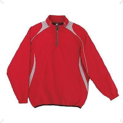 DESCENTE(デサント) JR長袖プルオーバーコート JSTD425 赤(レッド×シルバー) 140