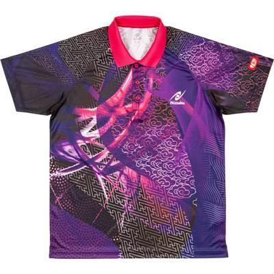 ニッタク(nittaku) クラウダーシャツ タッキュウゲームシャツ (nw2177-50) パープル J150