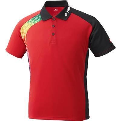 ニッタク(Nittaku) 卓球 男女兼用 ゲームシャツ ブメランシャツ レッド NW2178 レッド O