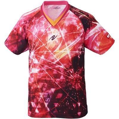 ニッタク(Nittaku) 卓球 男女兼用 ウェア ゲームシャツ スカイオーロラシャツ NW-2183 ピンク 2XO