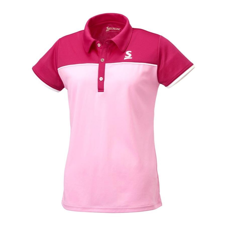 スリクソン(SRIXON) テニスウェア レディース ポロシャツ SDP-1767W ベビーピンク O