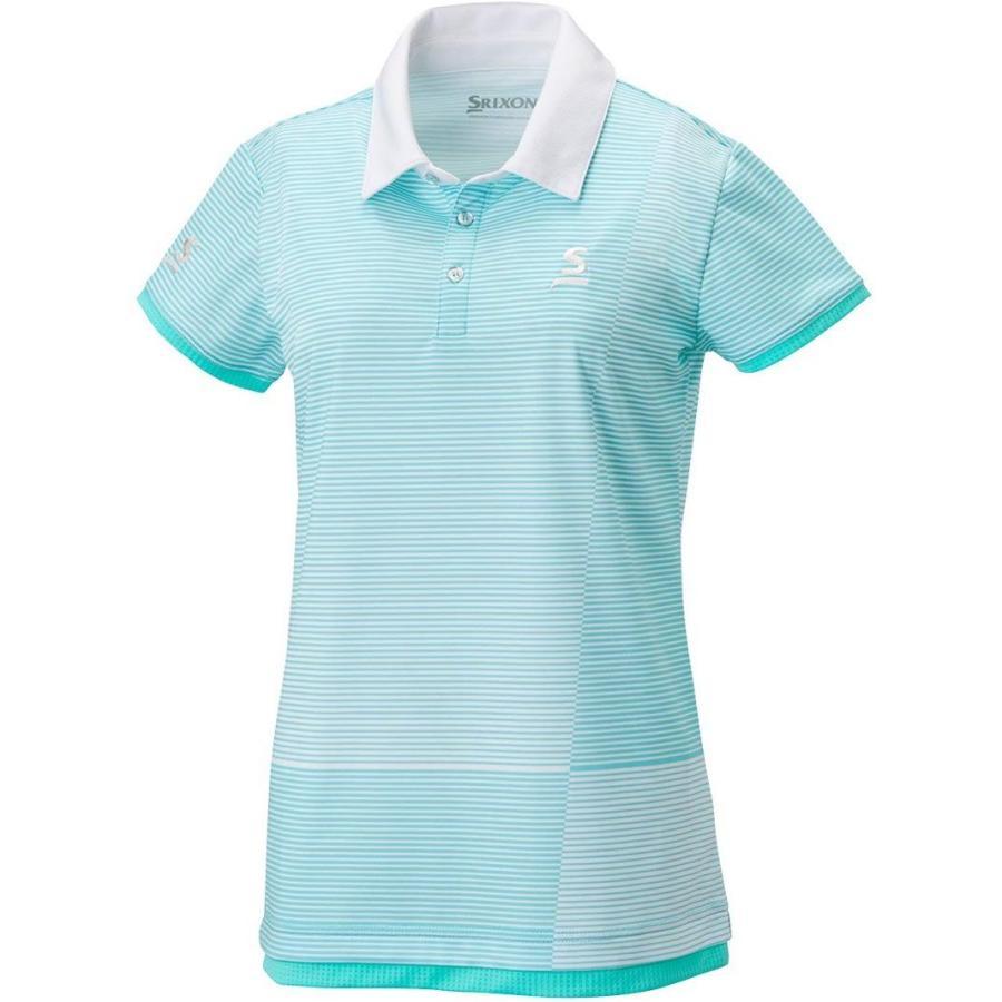 スリクソン(SRIXON) テニスウェア レディース ポロシャツ SDP-1824W スカイブルー L